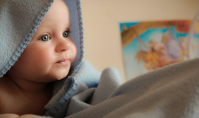 cute baby in room