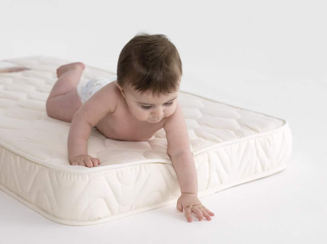 Baby on a mattress